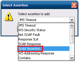 Selecting Type of Assertion