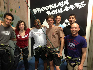 Celebrating ten-years cancer-free at Brooklyn Boulders in Brooklyn, NY