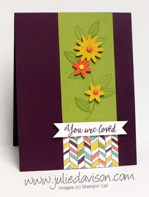 Stampin' Up! Occasions Catalog Sneak Peek: Grateful Bunch stamp set #stampinup plus Pocket Sketch Challenge www.juliedavison.com