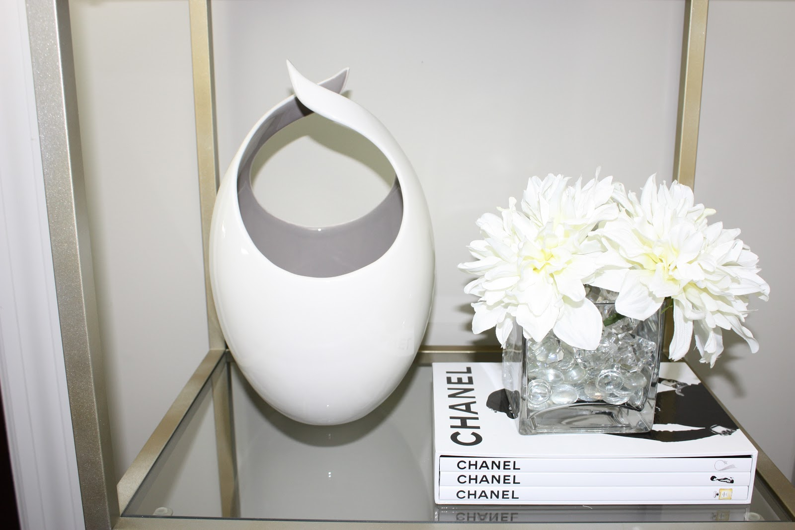 Inspiration in stages home project jazzing up ikea vittsjo aria taupe vase to die for currently sold out in the taupe color seen above but more colors found here chanel set of 3 books fashion jewelry reviewsmspy