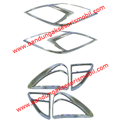Garnish Depan Belakang 6 pcs All New Mazda BT 50 2013