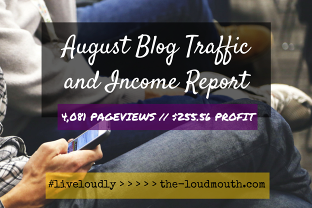 Loudmouth Lifestyle Blog Traffic and Income Report Stephanie Shar