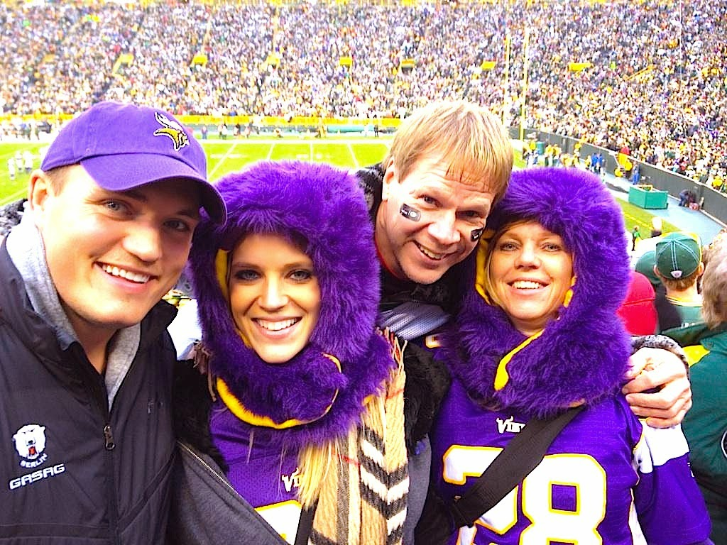 Vikings fans at Lambeau Field