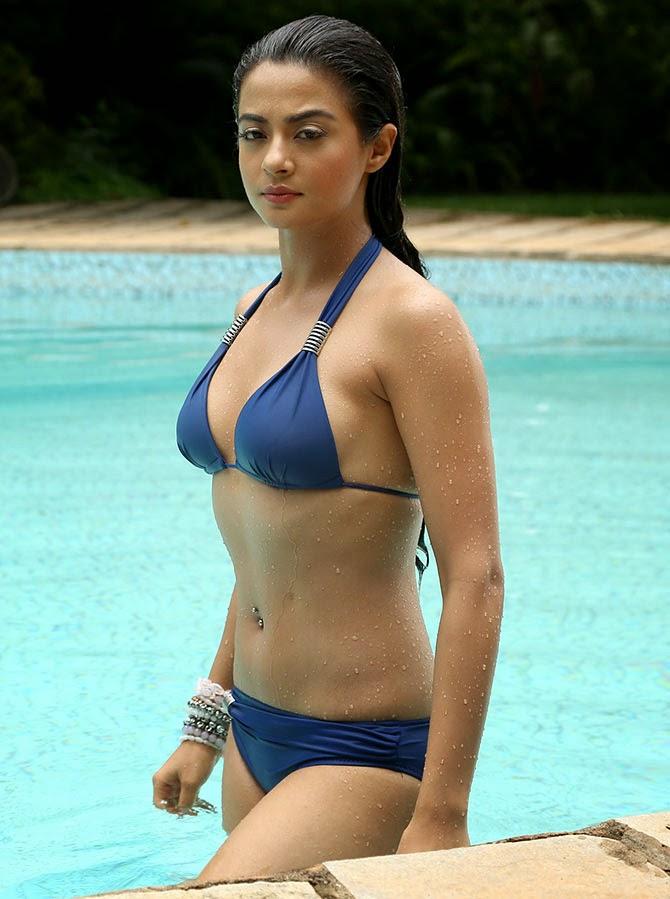 surveen chawla hot bikini pics