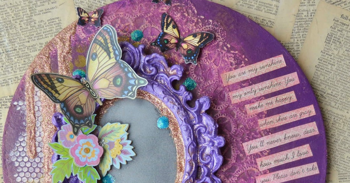 Mixed Media Creative Paperclay And Paint On Canvas