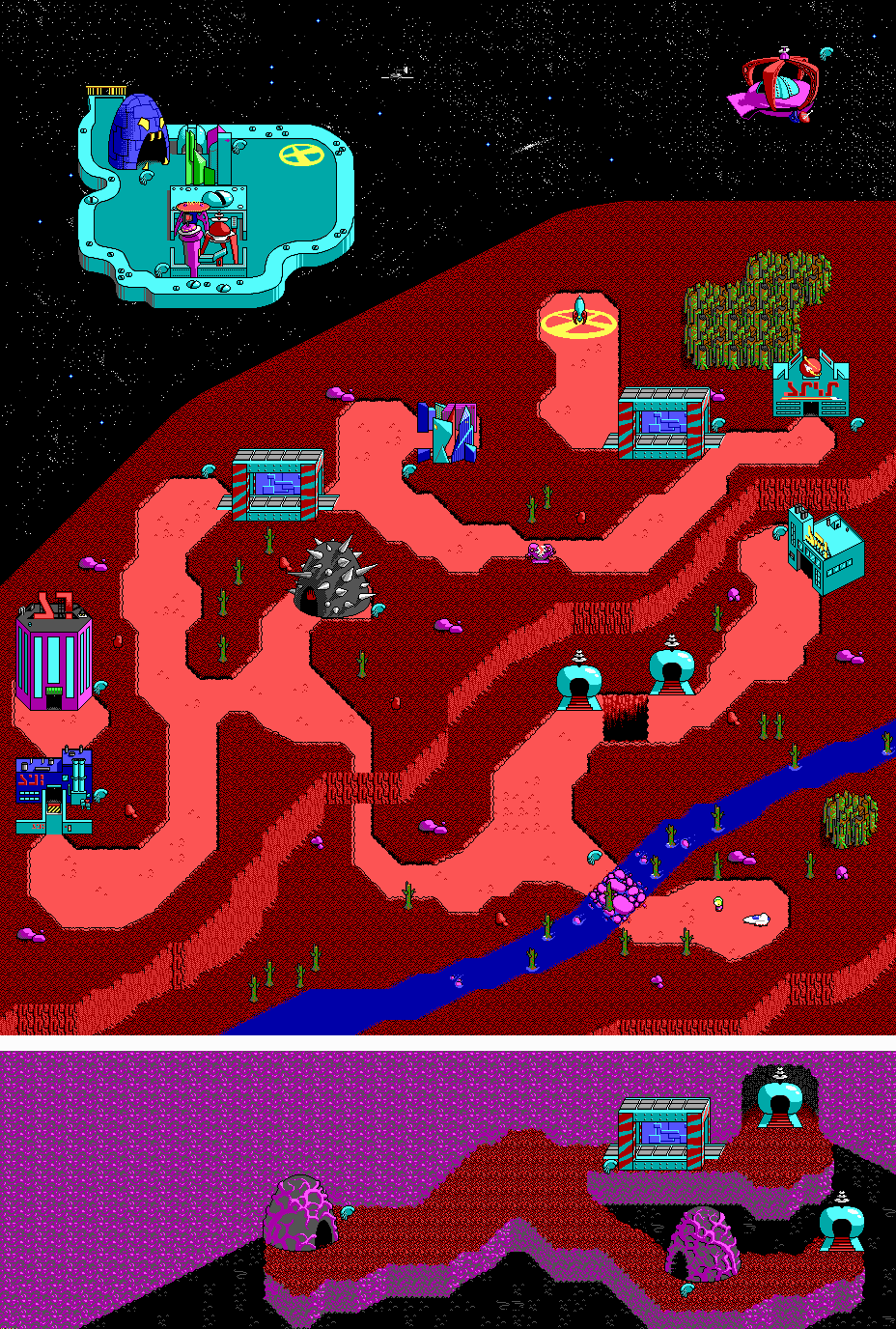 Commander Keen Maps \ Abandoned DOS Games