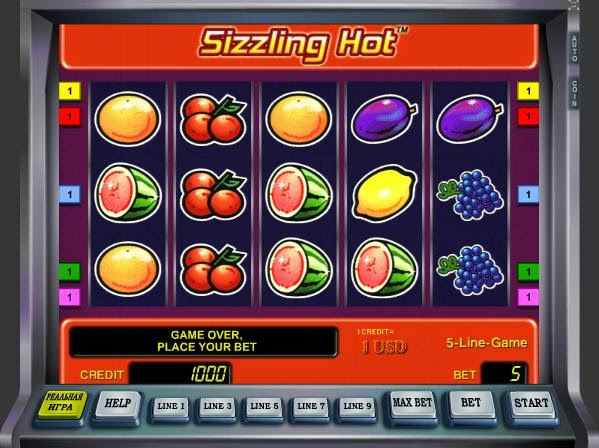 sizzling hot slots for free