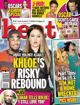 Khloe Kardashian Photos from Heat South Africa Magazine Cover March 2014 HQ Scans