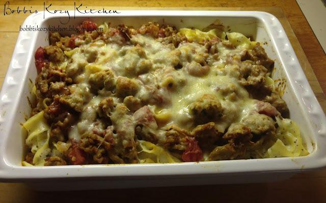Bobbi's Kozy Kitchen: Italian Noodle Bake
