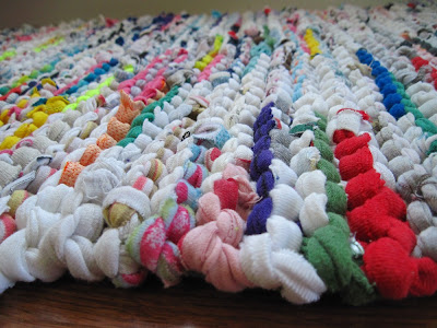 bright and white cottage rag rug