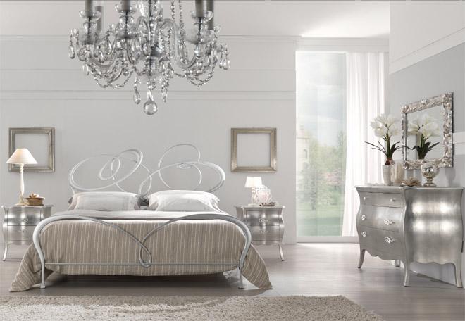 Dormitorios decorados en color plata ideas para decorar - Camera da letto classico moderno ...
