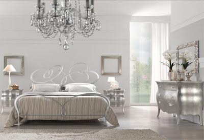 diseño de dormitorio plata