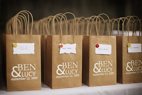 A journey to 2012 idea brown paper bag for door gift for Idea for door gift