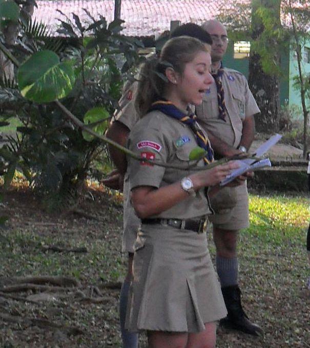 Recitando Oração aos Escoteiros no Zanoni-SP