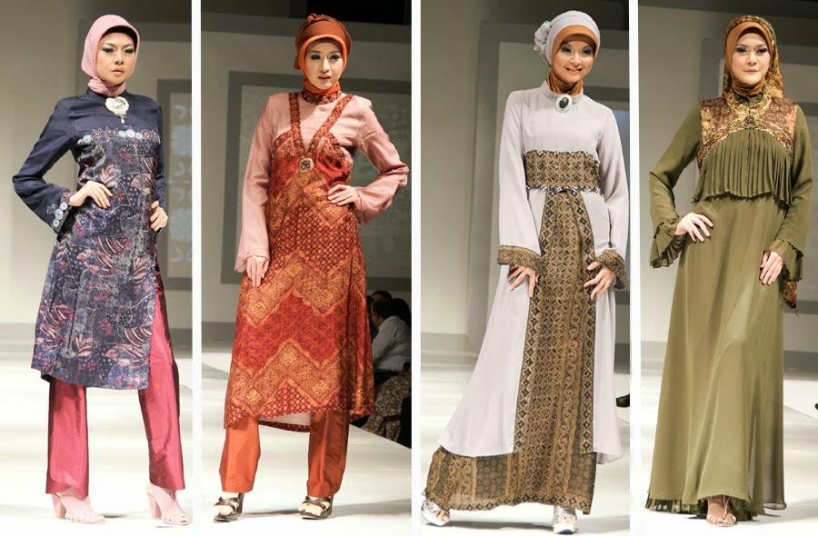 Gambar Model baju muslim modern terbaru wanita