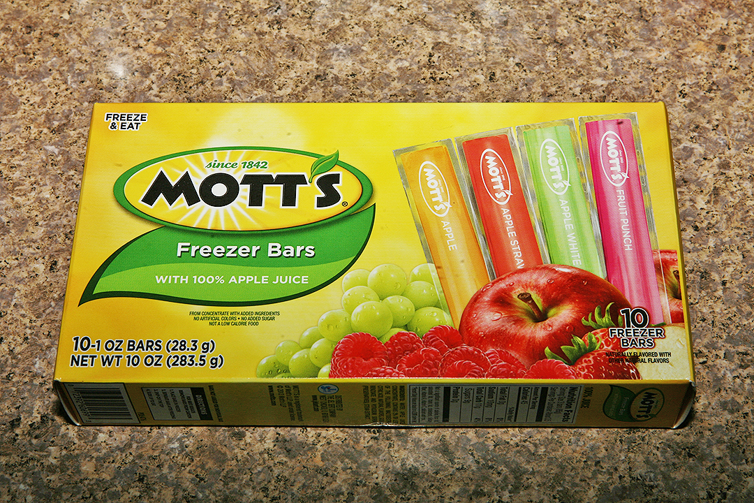 The Shit I Eat Motts Freezer Bars