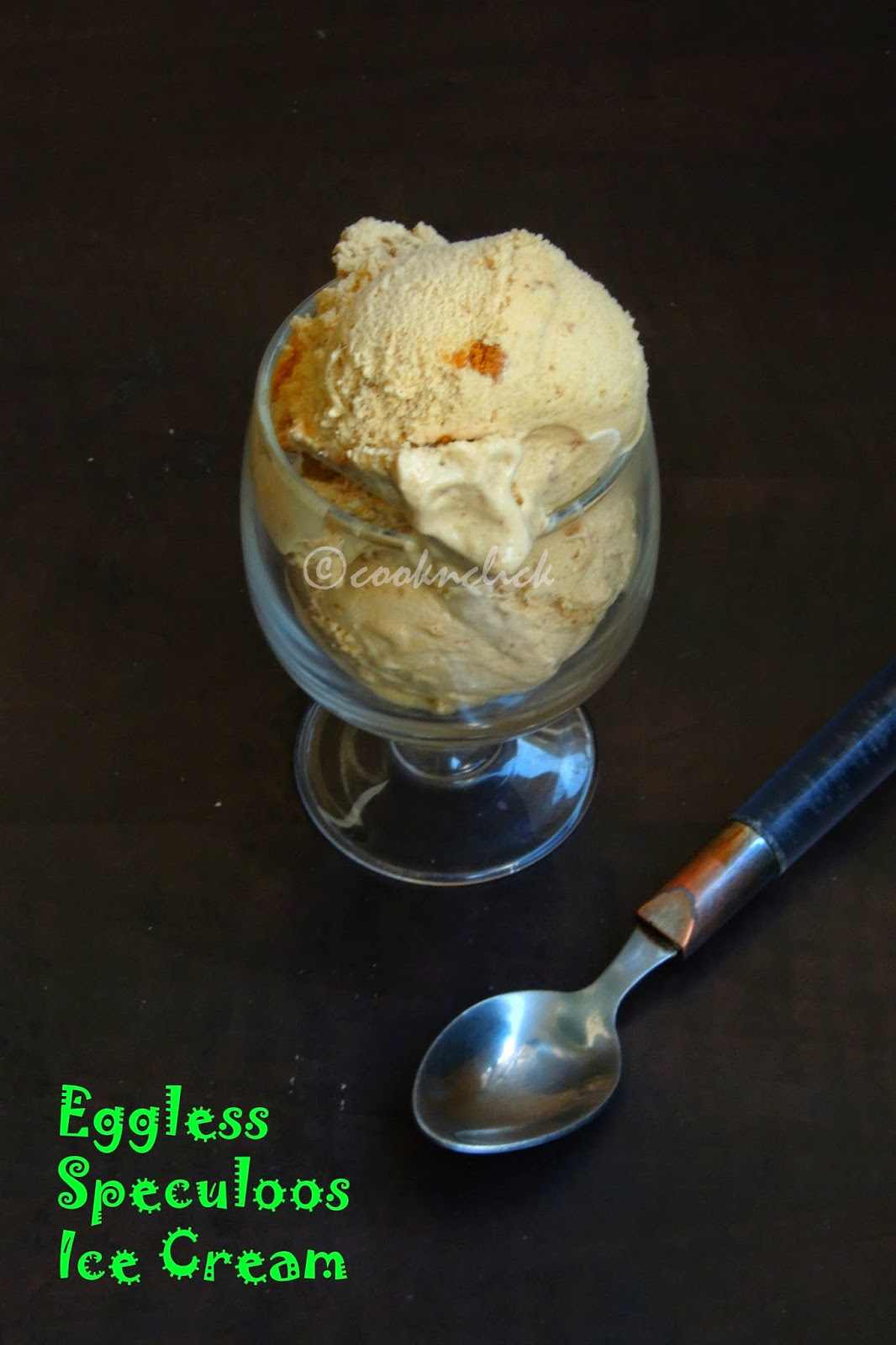 Speculoos Icecream, Eggless Speculoos icecream without icecream maker