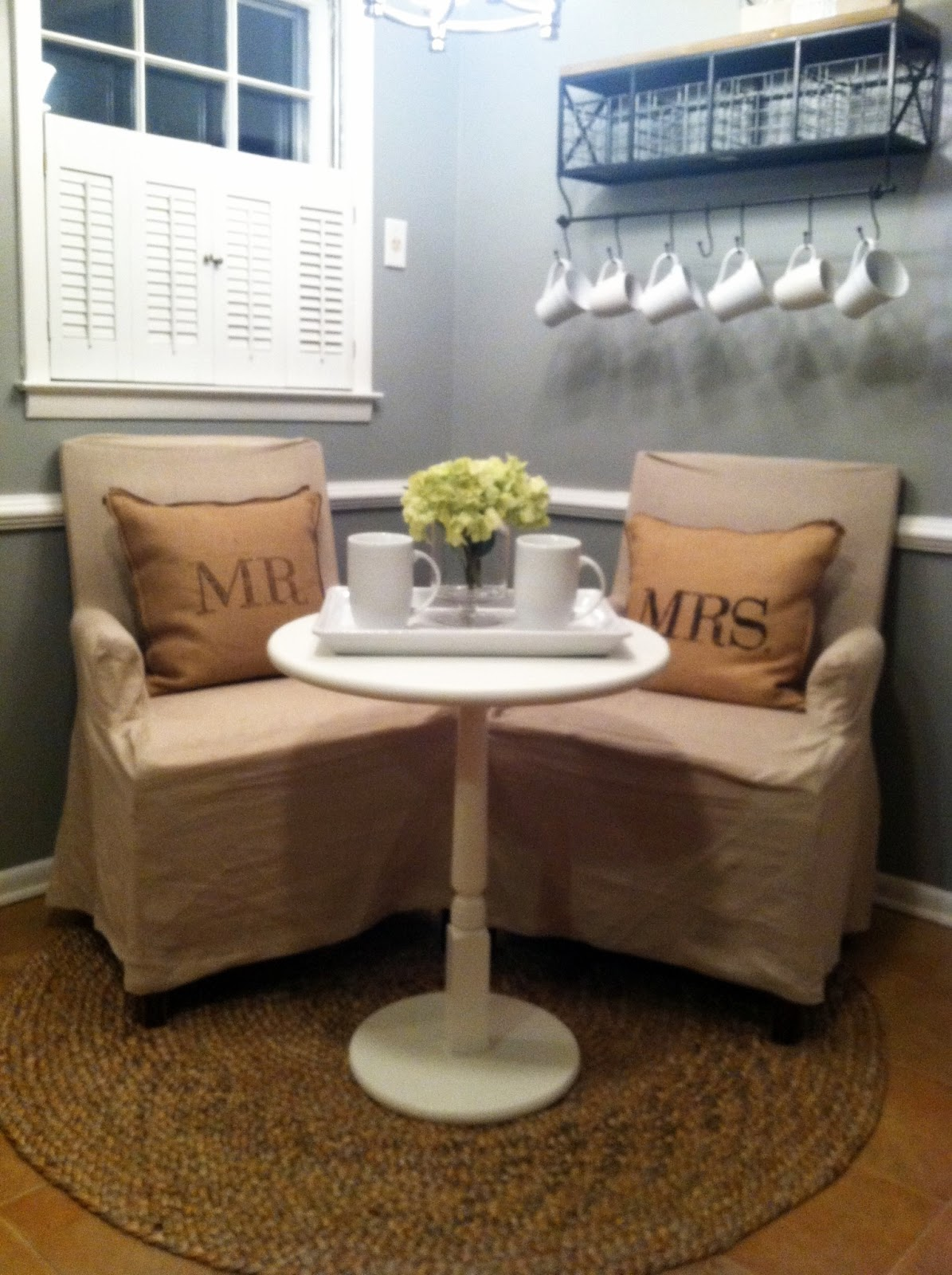 Hopes dreams newlyweds breakfast nook Breakfast nook table