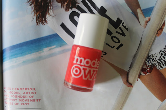 Models Own Nail Polish in Coral Reef Beauty Blogger Blog