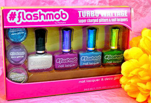 #Flashmob - Flashmob cosmetics - Nail products - nail glitter - brights - bolds - lip glosses - make up - hair chalks - eyeshadows - eye shades - giveaway - win