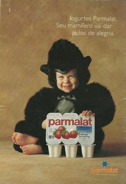 Propaganda veiculada em revistas dos Mamíferos da Parmalat em 1997.