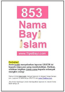 853 Nama bayi Islami