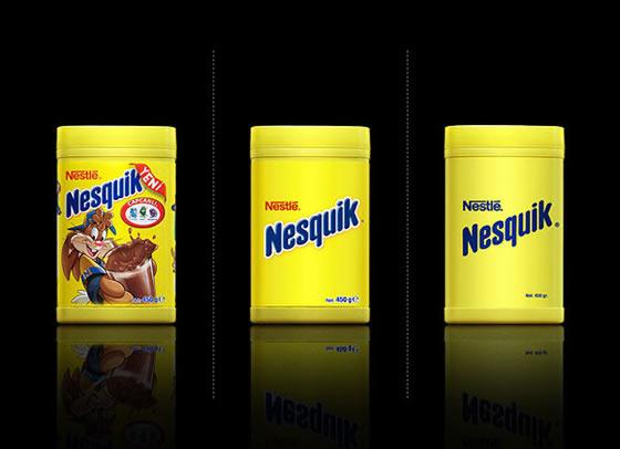 Embalagens de grandes marcas em minimalismo