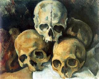 Cezanne Still Life Skulls
