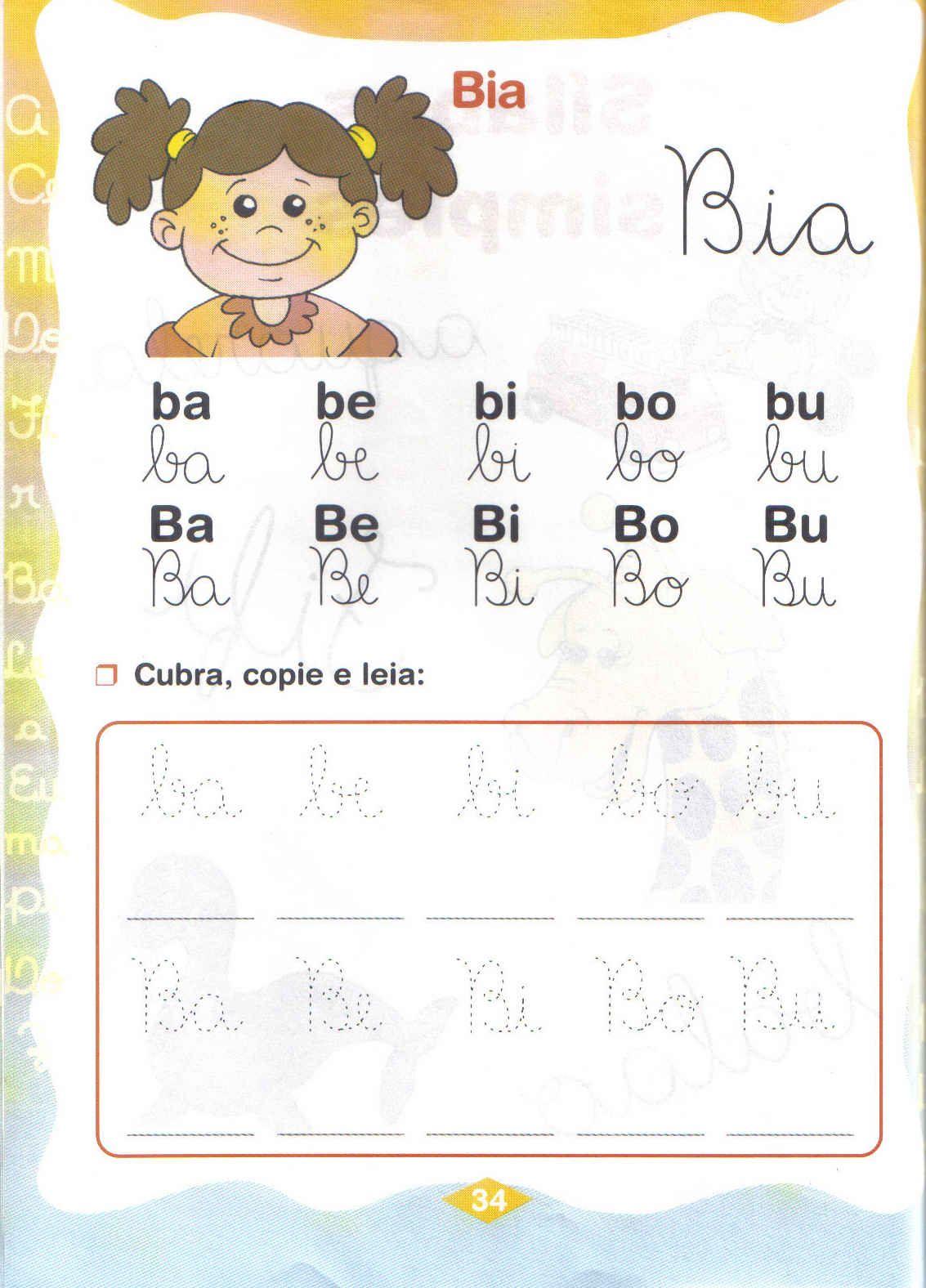 silabas simples atividades ba be bi bo bu