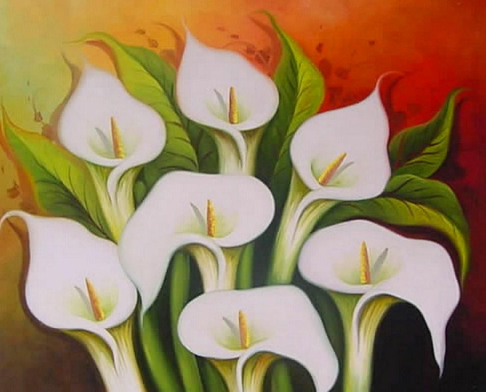 Pintura moderna y fotograf a art stica cuadros de flores for Pinturas bodegones modernos
