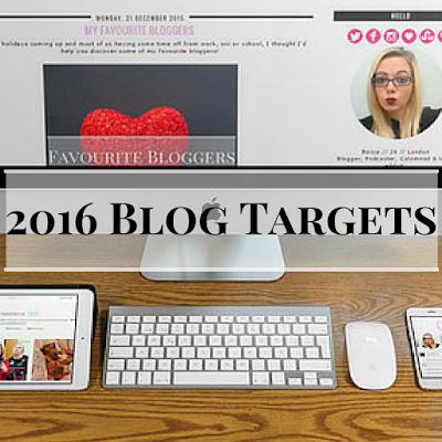 2016 blog targets