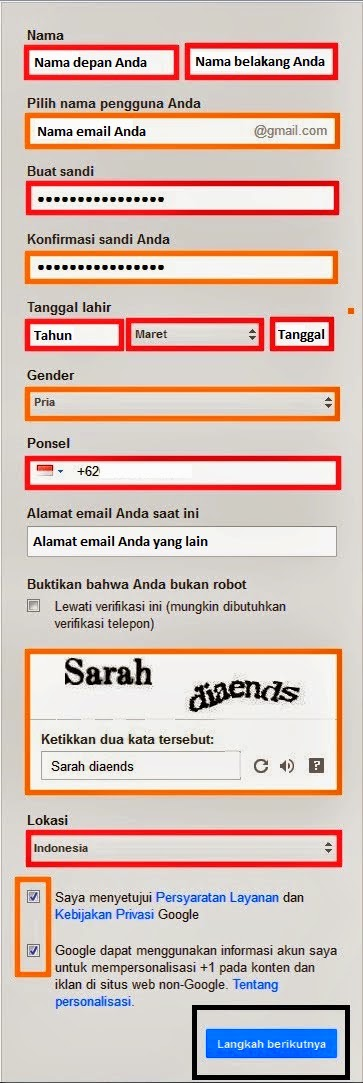 Cara mudah dan cepat membuat email