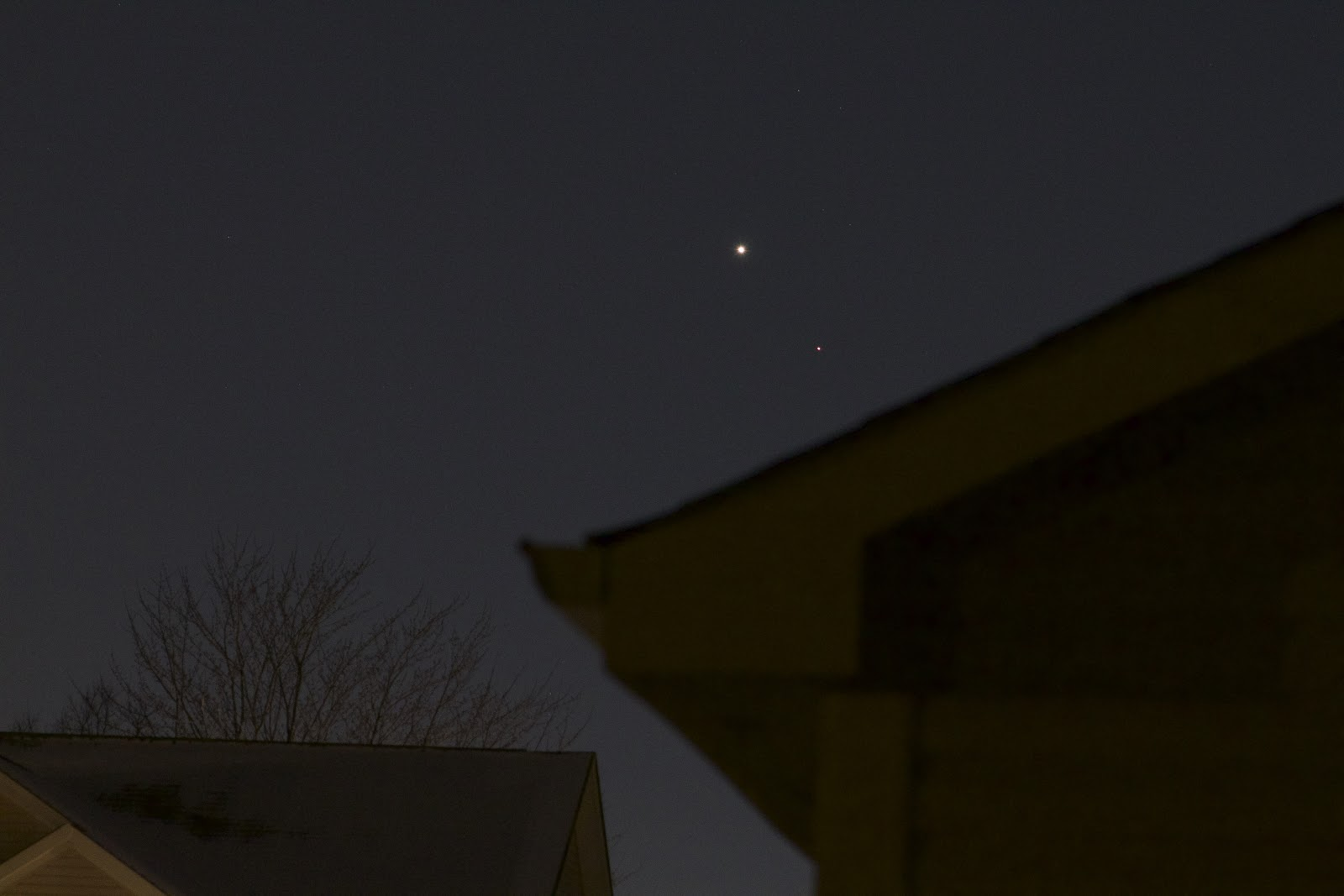mars and venus over house