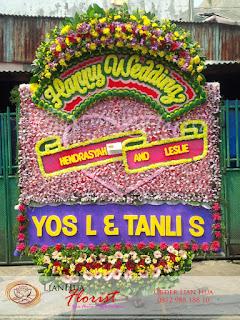 bunga papan pernikahan, karangan bunga, toko bunga jakarta, florist jakarta