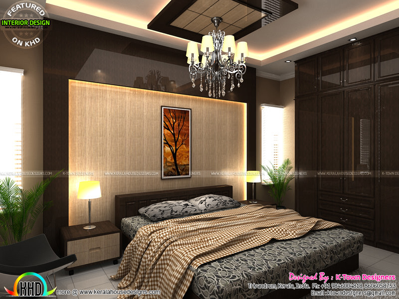 Interior designs by k town designers kerala home design for Master bedroom designs kerala