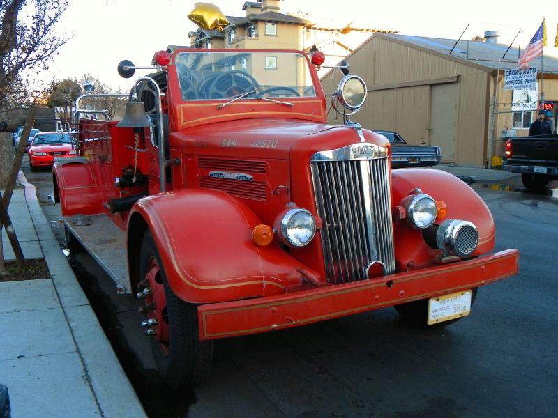 California Streets: San Jose Street Sighting - 1941 White Super Power Fire Truck