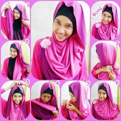Cara Memakai Jilbab Muslimah: Cara Memakai Jilbab Pashmina ...