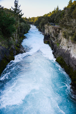 new zealand, huka fall