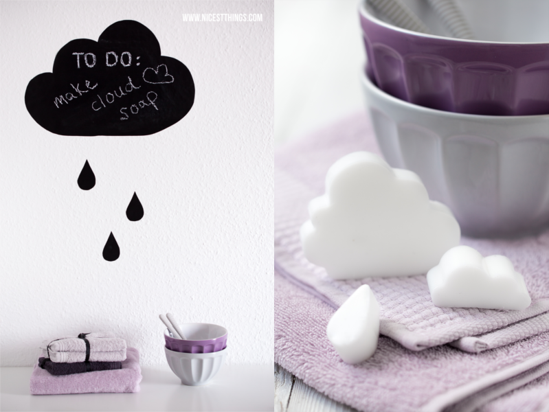 DIY Seife Regenwolke Wolke Tropfen