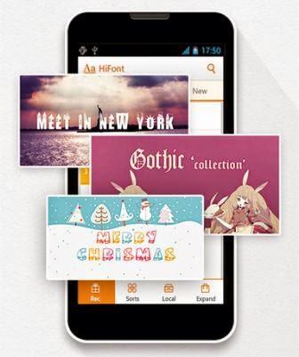 HiFont, aplikasi perubah karakter huruf Android