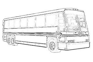 Bus Transportation Sketch