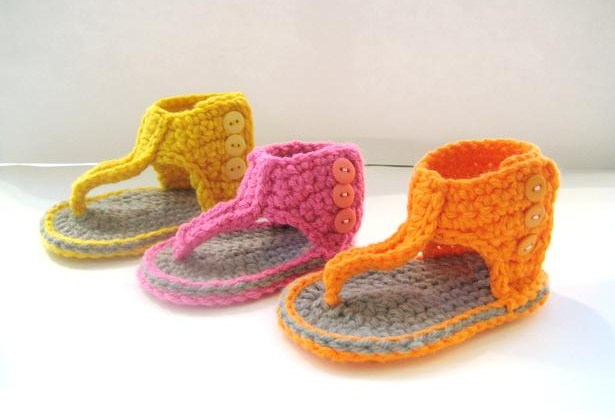 Free Crochet Patterns Sandals For Babies : Crochet Dreamz: Gladiator Sandals, Crochet Pattern for Baby