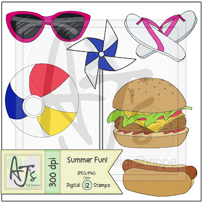 Summer Fun, Digital Stamp