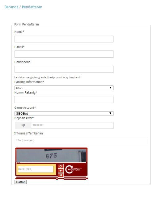 Cara Pendaftaran Di Arbetas.com