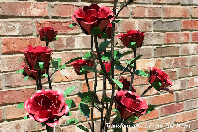 metal rose bush
