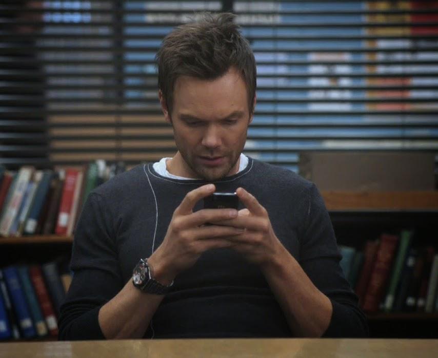 Jeff winger texting
