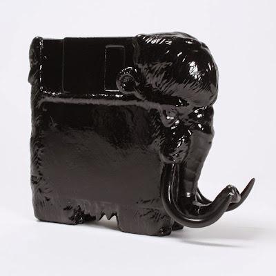 "Rotofugi Exclusive ""Gloss Black"" Pre-Historic Resin Figure by Alex Solis x Threadless x Mighty Jaxx"
