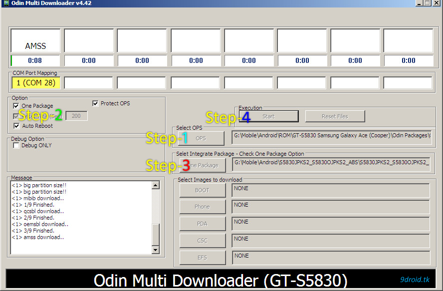 5open the odin software as administrator(right click on odin)