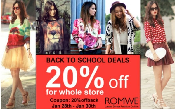 Romwe Back to School Deals Spring 2014