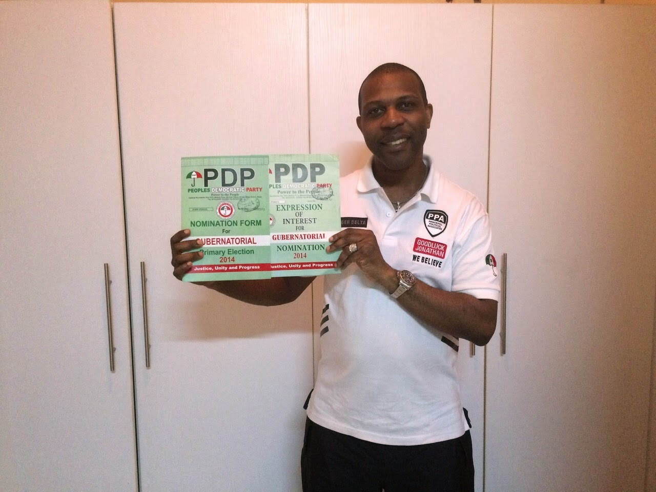 Prince Tonye Princewill with PDP Nomination Forms